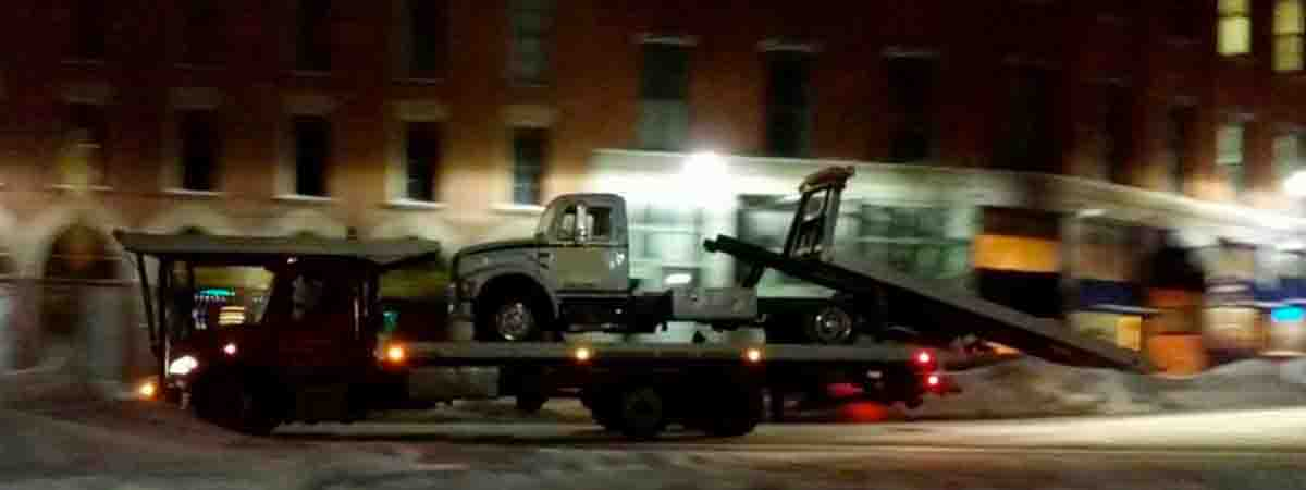 Even tow trucks need to be towed sometimes